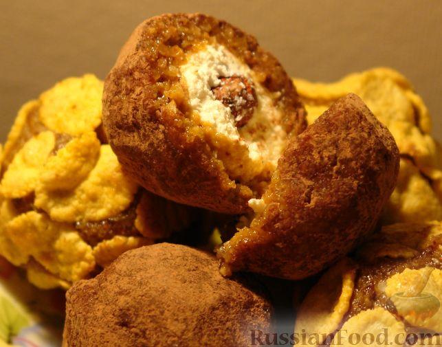 Рецепт А-ля конфеты с творогом и сухофруктами