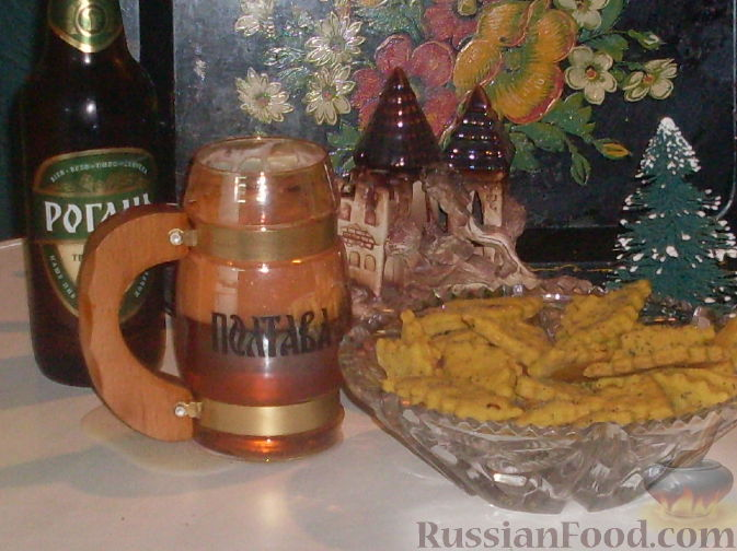 Рецепт Луковое печенье к пиву