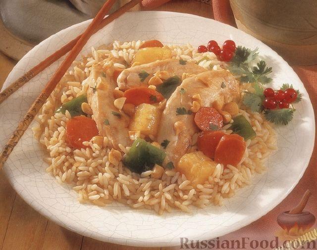 Рецепт Рис с куриным филе, запеченный в духовке