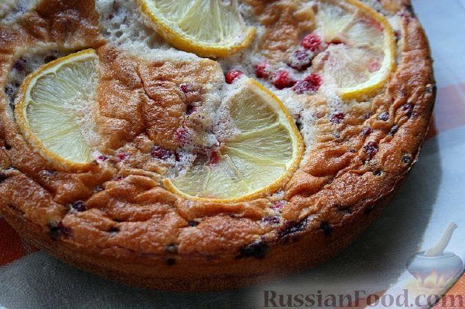 Фото к рецепту: Пирог с клюквой и лимоном