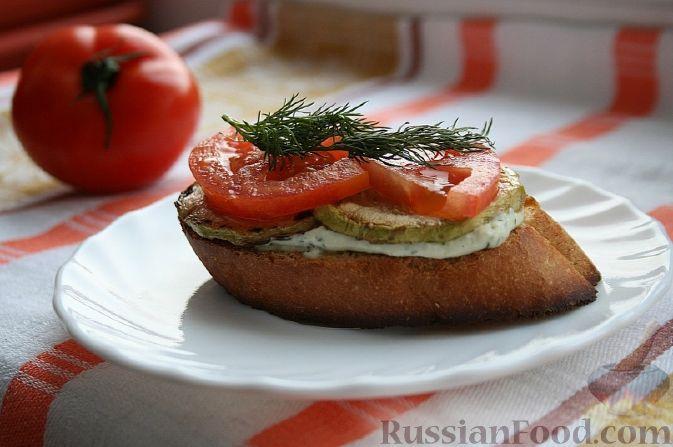 Рецепт Бутерброд с кабачками