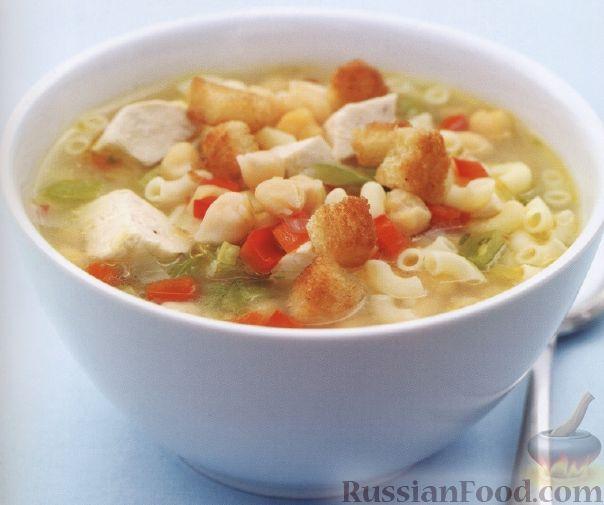 Рецепт Куриный суп с макаронами и турецким горохом