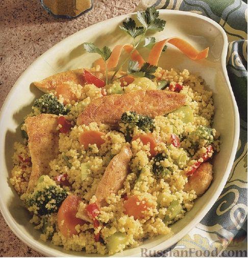 Рецепт Кус-кус с овощами и куриным филе