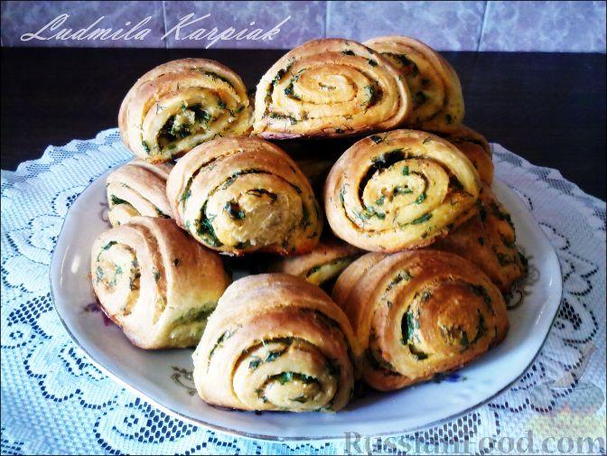 Рецепт Картофельно-сметанные булочки с зеленью.