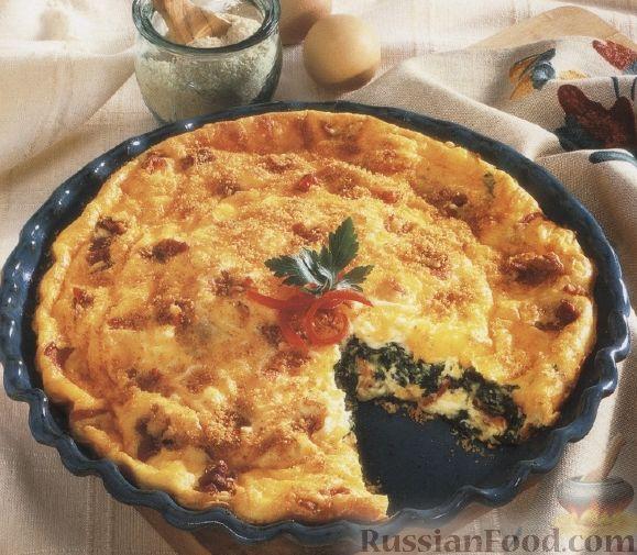 Рецепт Слоеный пирог со шпинатом