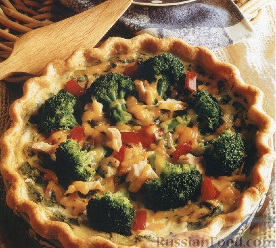 Рецепт Открытый пирог с брокколи и тунцом
