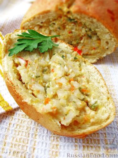 Рецепт Творожный рулет с начинкой из морепродуктов