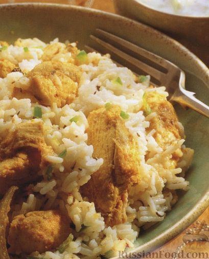 Рецепт Нежный, ароматный рис с куриным мясом