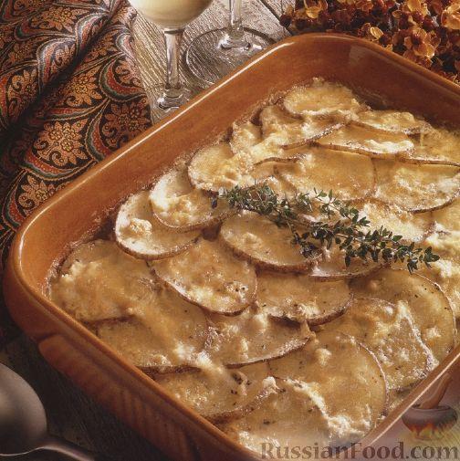 Рецепт Картофель, запеченный с яблоками
