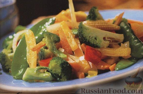 Рецепт Теплый овощной салат