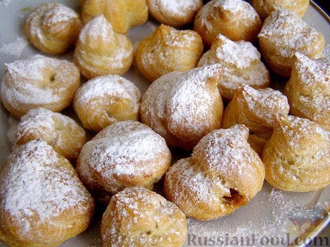 Рецепт Заварные пирожные с творожным кремом