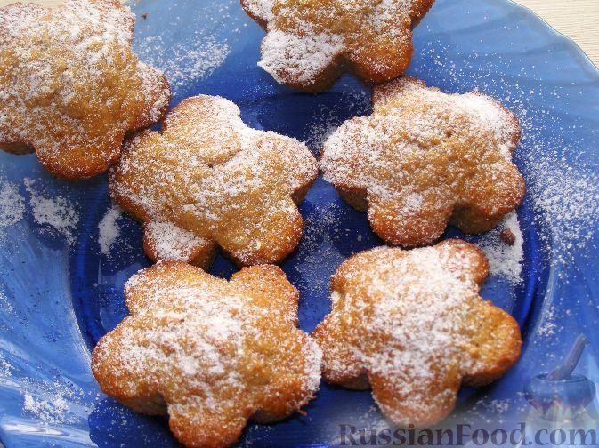 Рецепт Яблочные кексы с орехами и корицей