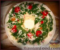 Фото к рецепту: Вариант украшения оливье)))