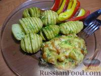 Фото к рецепту: Свинные отбивные с грибами и ароматным картофелем