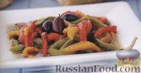 Фото к рецепту: Печеный перец с ароматной заправкой и оливками