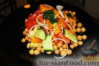 Фото к рецепту: Салатик с авокадо и белой фасолью