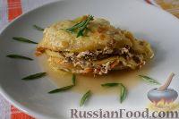 Фото к рецепту: Лазанья из кабачка и яблока