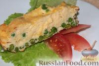 Фото к рецепту: Омлет с зеленым горошком и сыром