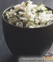 Фото к рецепту: Рис на кокосовом молоке с мятой