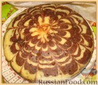 "Фото приготовления рецепта: Пирог ""Зебра"" - шаг №3"