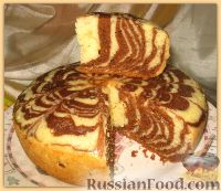 "Фото приготовления рецепта: Пирог ""Зебра"" - шаг №4"
