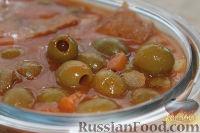 Фото к рецепту: Оливковый красный суп