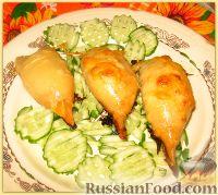Фото к рецепту: Фаршированные тушки кальмаров