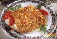 Фото к рецепту: Макаронная запеканка с фасолью в томатном соусе