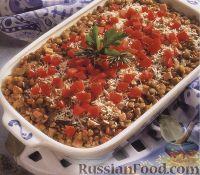Фото к рецепту: Чечевица, запеченная с беконом и грибами
