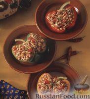 Фото к рецепту: Фаршированный болгарский перец