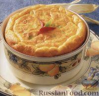 Фото к рецепту: Суфле из кукурузной муки с перцем и сыром