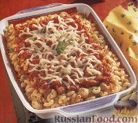 Фото к рецепту: Макароны, запеченные с куриным филе