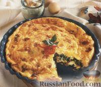 Фото к рецепту: Слоеный пирог со шпинатом