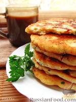 Фото к рецепту: Лепешки сырные, пресные