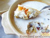 Фото к рецепту: Тыквенно-творожная запеканка в горшочке