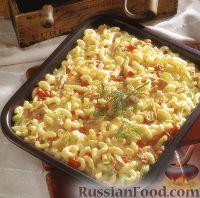 Фото к рецепту: Макароны, запеченные с тунцом в сливочном соусе