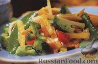 Фото к рецепту: Теплый овощной салат