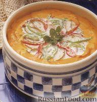 Фото к рецепту: Картофель, запеченный с рыбой в нежном соусе
