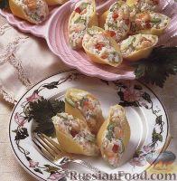 Фото к рецепту: Ракушки, начиненные морепродуктами