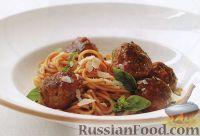 Фото к рецепту: Спагетти с мясными шариками