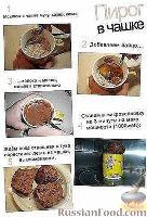Фото к рецепту: Пирог в чашке