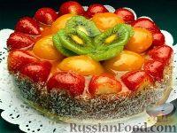 """Фото к рецепту: """"Пьяный"""" фруктовый пирог"""