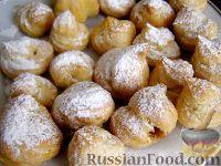 Фото к рецепту: Заварные пирожные с творожным кремом