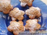 Фото к рецепту: Яблочные кексы с орехами и корицей
