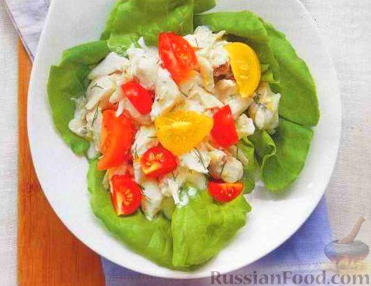 Салат с крабовым мясом без майонеза
