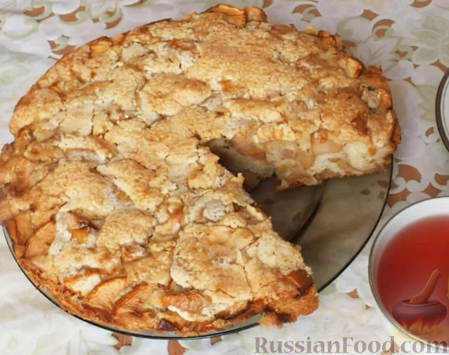 шарлотка с яблоками с корочкой рецепт