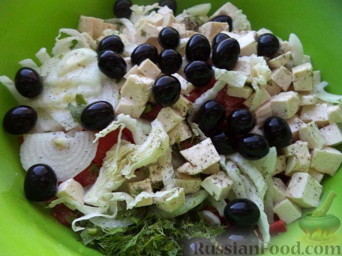салат с сыром фетакса и креветками рецепты