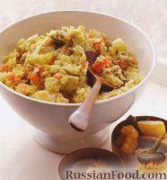 Фото к рецепту: Пюре из картофеля, брюссельской капусты и моркови