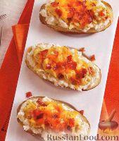 Фото к рецепту: Картофель с сыром, беконом и яйцами