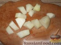 Фото приготовления рецепта: Канапе из фруктов с сыром - шаг №2